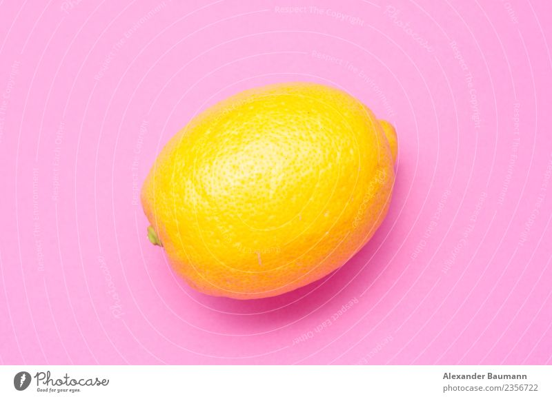 lemon on a pink violet background Saft Natur gelb violett rosa purple fruit citrus food fresh Schlag juicy isolated healthy ripe sour Hintergrundbild organic