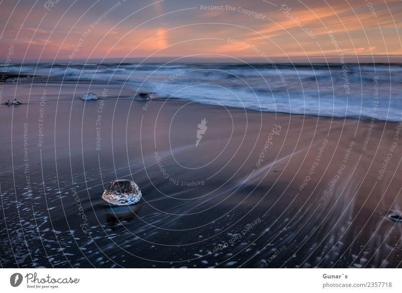Diamanten im Eis_001 Himmel Natur Ferien & Urlaub & Reisen Wasser Landschaft Meer Erholung Ferne Strand Küste Tourismus Freiheit Sand wandern Abenteuer