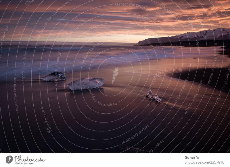 Diamanten im Eis_002 Ferien & Urlaub & Reisen wandern Bildungsreise Natur Landschaft Urelemente Sand Wasser Himmel Sonnenaufgang Sonnenuntergang Frost Meer