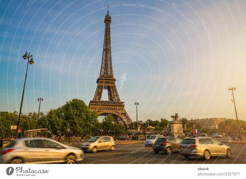 Paris am Nachmittag Ferien & Urlaub & Reisen Sommer Liebe Skyline Großstadt Tour d'Eiffel