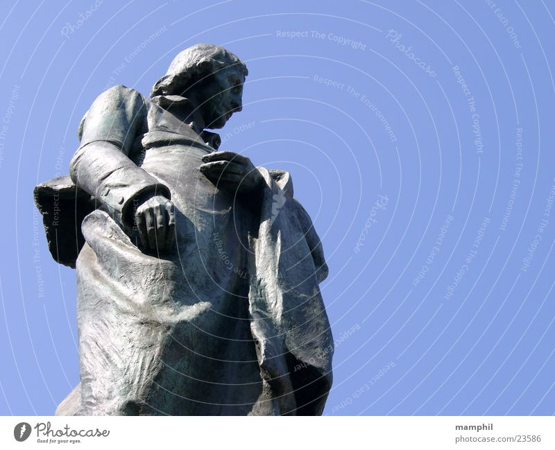 Giuseppe Robecchi Statue Mann Mailand Italien Mensch blau Himmel x