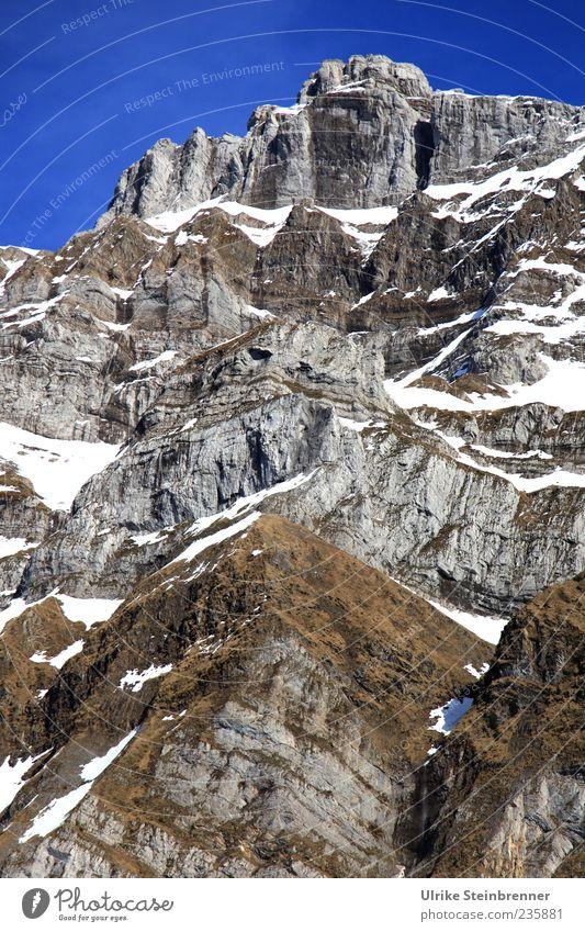 200 Der nächste Gipfel Himmel Natur weiß Landschaft Schnee Berge u. Gebirge grau Stein braun Felsen hoch außergewöhnlich Alpen Schönes Wetter Schweiz