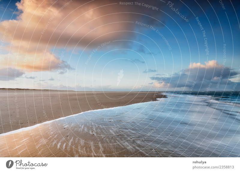 Himmel Natur blau Sommer Wasser Landschaft Meer Wolken Strand Küste Bewegung Sand Horizont Wellen Aussicht Insel