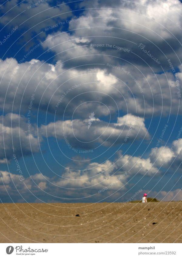 Sand, Strand und Wolken Himmel blau Dänemark Agger Vestervig