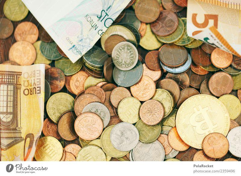 #A# Hauptsache Cash Kunstwerk ästhetisch Geldmünzen Münzenberg Geldscheine Euro Eurozeichen Bargeld Kapitalwirtschaft Geldgeschenk Geldgeber Finanzkrise viele