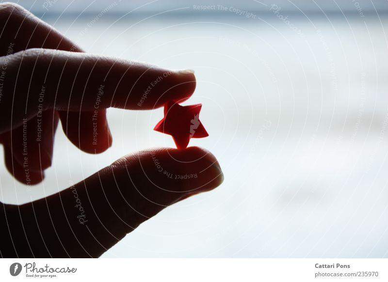 ready for the night sky Hand außergewöhnlich Finger Stern (Symbol) Papier Wunsch einzigartig festhalten zeigen Daumen fertig Zacken bezaubernd Mensch