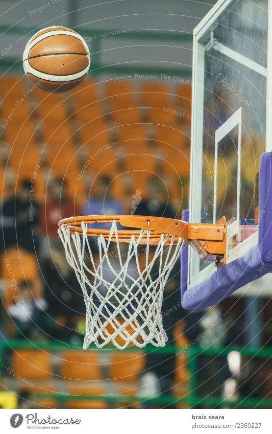 Basketball Sport Ballsport Sportveranstaltung Stadion Luftballon Bewegung Spielen sportlich Genauigkeit Korb Quadrat im Inneren Streichholz Basketballkorb
