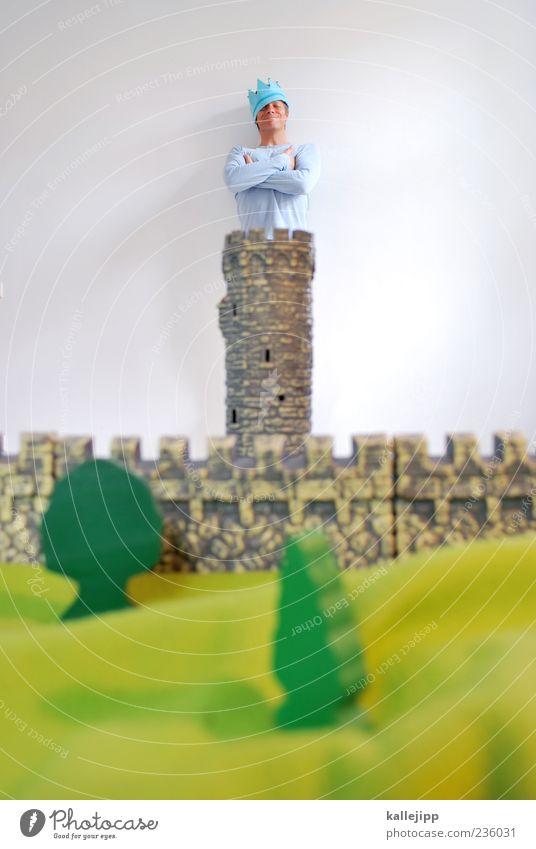 in kingston town Mensch maskulin Mann Erwachsene Leben 1 30-45 Jahre Kunst Umwelt Natur Landschaft Pflanze Baum Kitsch positiv stark grün Zufriedenheit