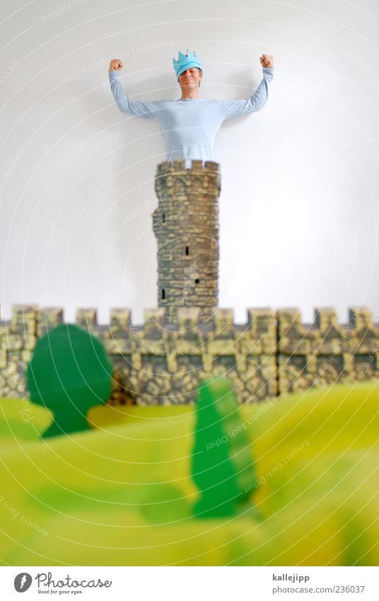 jacobs krönung Mensch Mann grün Baum Pflanze Erwachsene Leben Wiese klein Kunst Zufriedenheit groß maskulin Erfolg Macht Turm
