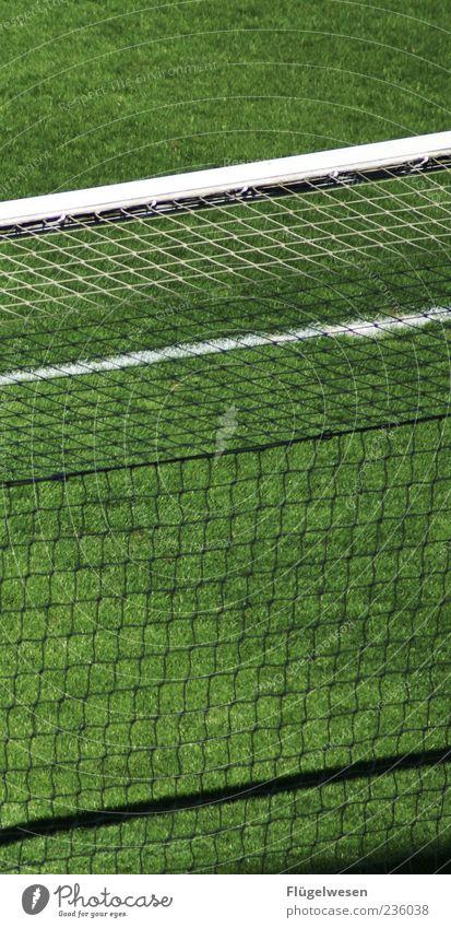 Sommerpause grün Wiese Sport Gras Fußball Rasen Netz Tor Fußballplatz Ballsport Sportstätten Kunstrasen Elfmeter Fußballstadion Lattenkreuz