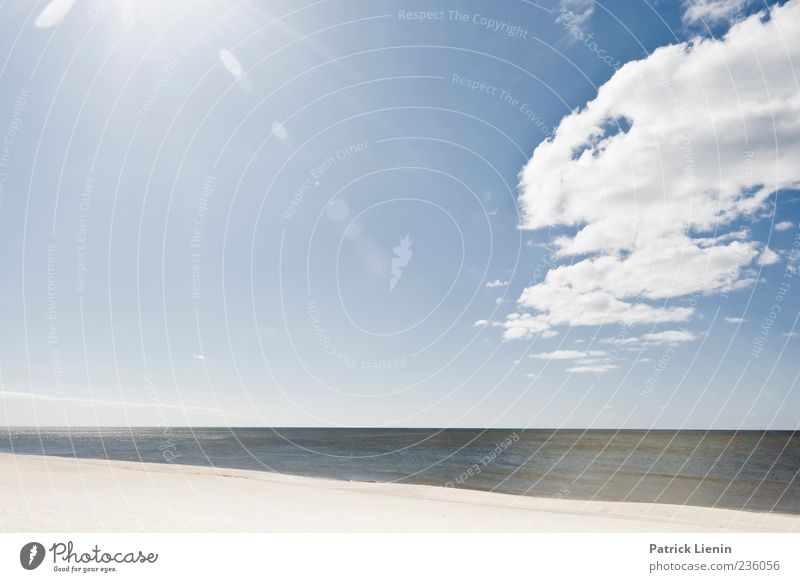 Waterworld schön Ferien & Urlaub & Reisen Sonne Strand Insel Umwelt Natur Landschaft Urelemente Sand Himmel Wolken Horizont Sonnenlicht Wellen Küste Nordsee