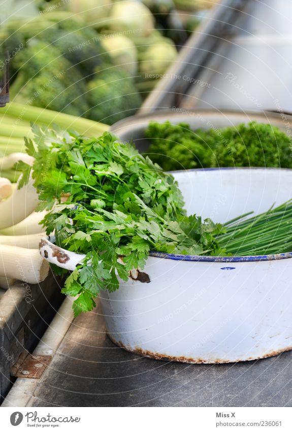 Kräutertopf grün Ernährung Lebensmittel Gesundheit frisch Gemüse Kräuter & Gewürze Bioprodukte Topf Schalen & Schüsseln Vegetarische Ernährung Petersilie kraus