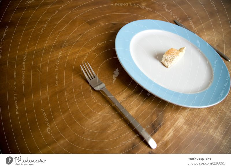 diät portion Leben Lebensmittel Ernährung Speise Appetit & Hunger Geschirr Brot Teller Messer Diät Rest Gabel Vegetarische Ernährung Fingerfood Backwaren Slowfood