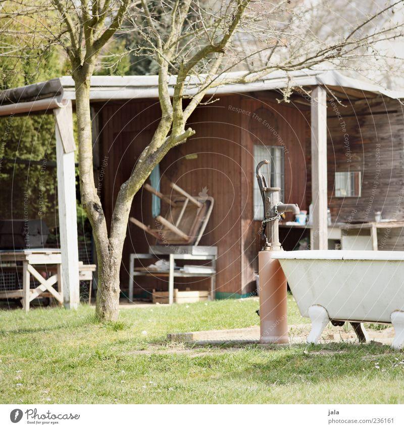 schrebergarten Natur Baum Pflanze Gras Garten Gebäude Brunnen Badewanne Hütte Haus Gartenhaus Umwelt