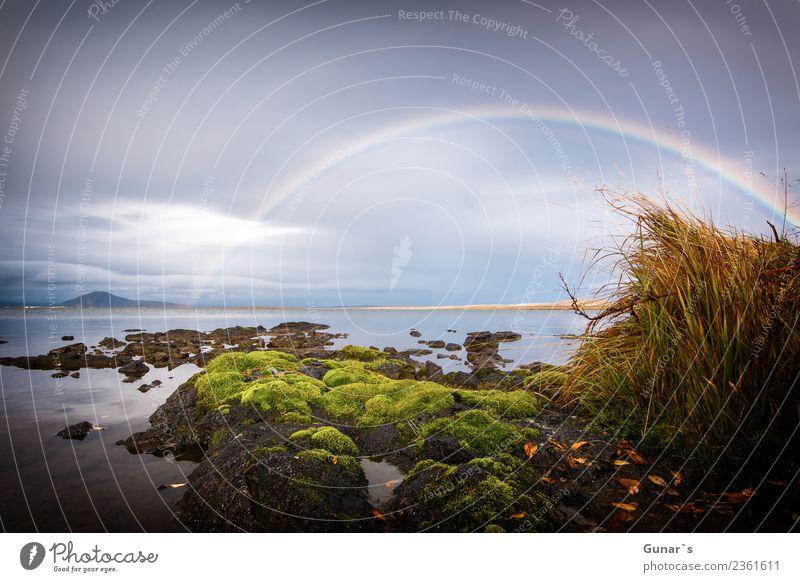 Regenbogen, der himmlische Bogen. Himmel Natur Ferien & Urlaub & Reisen Sommer Wasser Landschaft Meer Erholung Ferne Herbst Frühling Tourismus Freiheit See