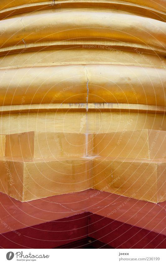 You are Thailand Tempel Säule ästhetisch eckig rund schön braun gold Religion & Glaube Farbfoto mehrfarbig Detailaufnahme Menschenleer Tag abstrakt Fassade