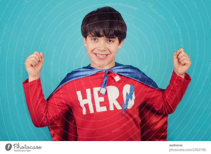 Kind Mensch Freude Lifestyle Gefühle Junge Party Feste & Feiern maskulin Kindheit Kraft Erfolg Lächeln Coolness 8-13 Jahre sportlich