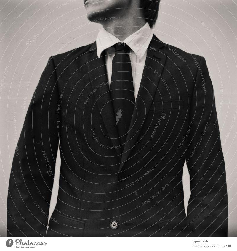 Pionier Mensch maskulin Junger Mann Jugendliche Erwachsene 1 18-30 Jahre Bekleidung Hemd Anzug Krawatte schön einzigartig seriös Reichtum anonym unkenntlich alt