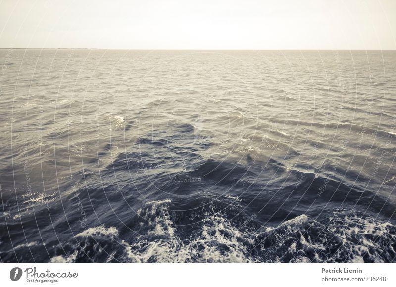 Spiekeroog | Überfahrt Himmel Natur Wasser Meer Bewegung Horizont Wellen Urelemente Nordsee Panorama (Bildformat) Gischt