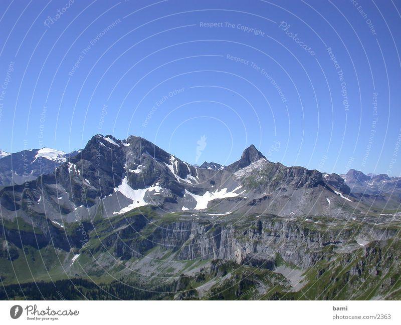 schweizerberge Schweiz Panorama (Aussicht) Bergkette Berge u. Gebirge groß