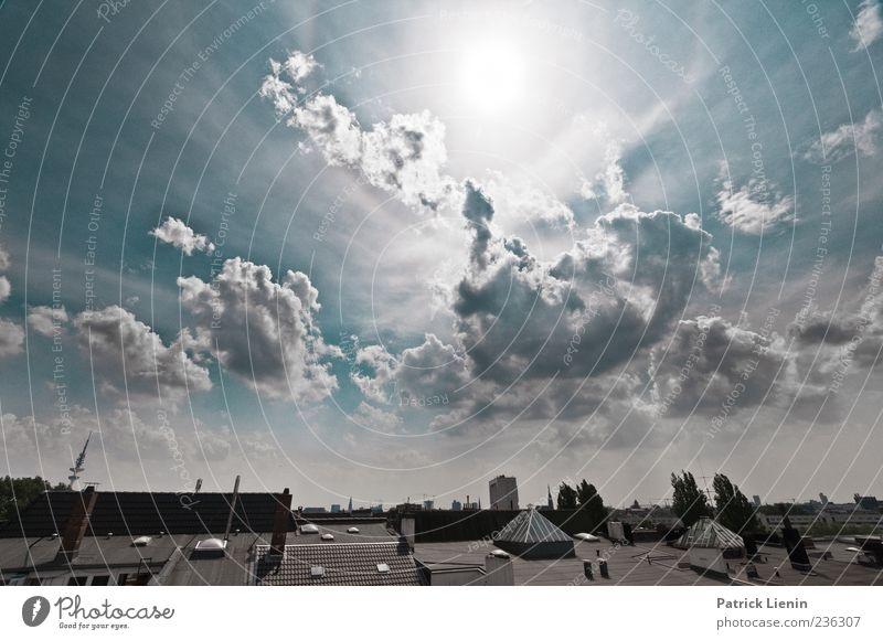 The Great Gig In The Sky Himmel Stadt Ferien & Urlaub & Reisen Sonne Wolken Haus Luft Wetter Perspektive Dach einzigartig Schönes Wetter