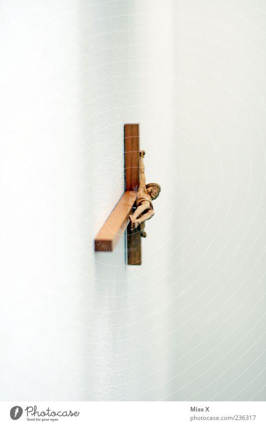 Kreuz Dekoration & Verzierung hängen Glaube Religion & Glaube Jesus Christus kreuzigen Trauer Hoffnung heilig Protestantismus Katholizismus Holz Holzkreuz