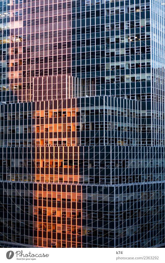 NYC - Sunrise New York City USA Amerika Hauptstadt Stadtzentrum Menschenleer Hochhaus Bankgebäude Bauwerk Gebäude Architektur Fassade Fenster