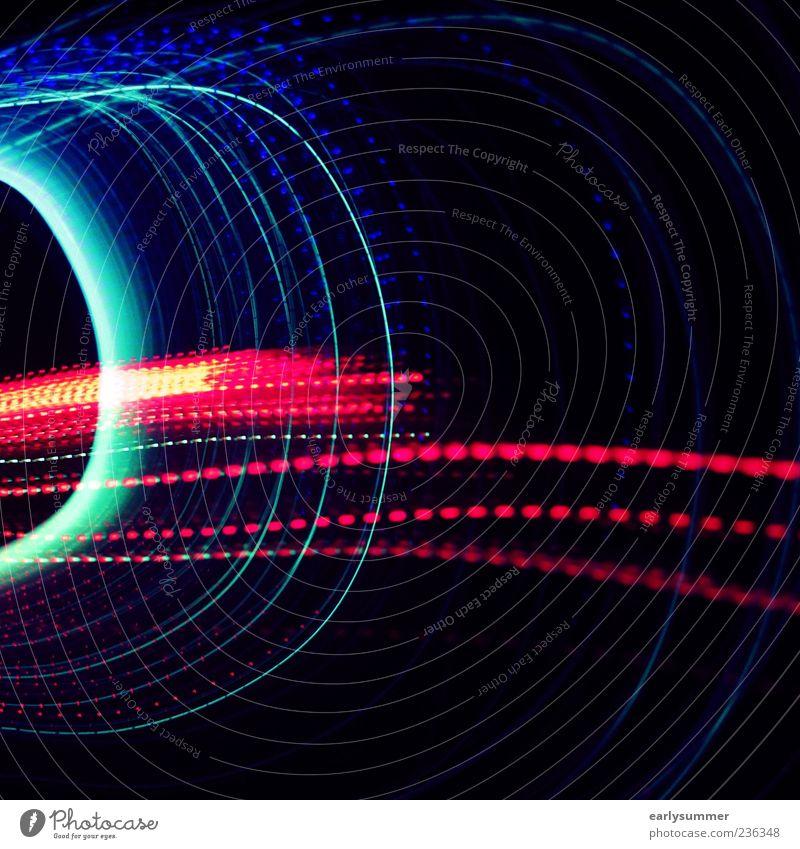 take off Telekommunikation Technik & Technologie Fortschritt Zukunft High-Tech Informationstechnologie Kunst hell blau grün rot Leuchtdiode Farbfoto mehrfarbig
