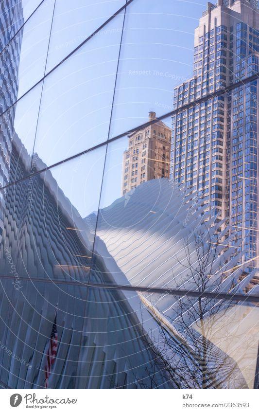 NYC - Oculus Stars and Stripes 1 WTC New York City USA Amerika Hauptstadt Stadtzentrum Skyline Menschenleer Hochhaus Gebäude Architektur Fassade