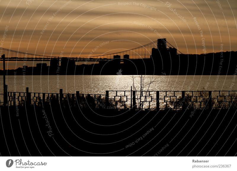 Washington Bridge Himmel Stadt Straße Gebäude Landschaft Architektur Brücke USA Reisefotografie Skyline Amerika Zaun New York City Manhattan Stadtrand