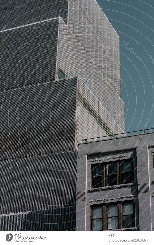 NYC - Architecture Skyline Froschperspektive Tag Außenaufnahme Gedeckte Farben Farbfoto Stadt New York City USA Amerika Hauptstadt Stadtzentrum Menschenleer