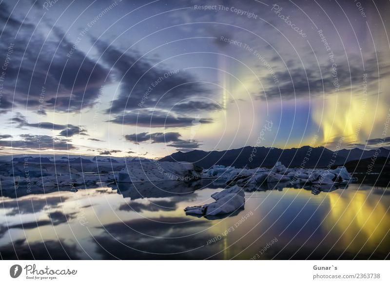 Zauber im Eis_004 Himmel Ferien & Urlaub & Reisen Wasser Erholung Ferne Berge u. Gebirge Tourismus Freiheit Ausflug wandern Luft Abenteuer Stern beobachten