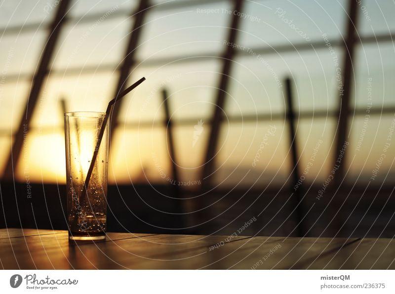 Lounge. Getränk trinken Erfrischungsgetränk Limonade Alkohol Spirituosen Glas Trinkhalm ästhetisch Restaurant Flughafen Abflughalle Longdrinkglas ruhig leer
