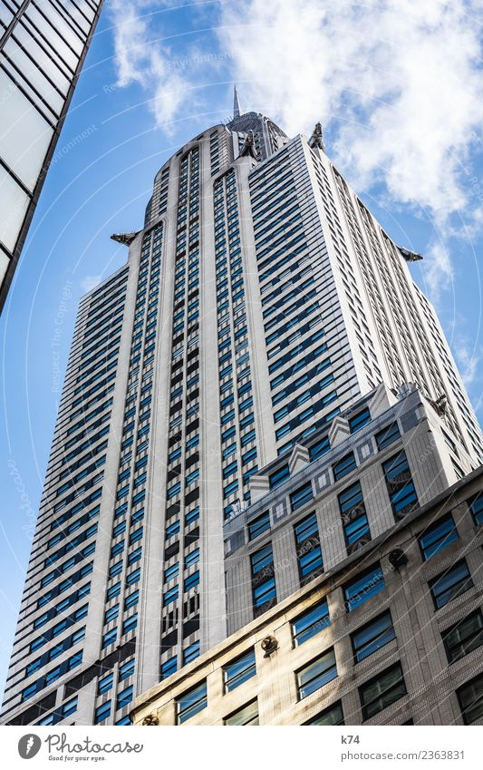 NYC - Chrysler Building II Skyline Froschperspektive Tag Außenaufnahme Gedeckte Farben Farbfoto Stadt New York City USA Amerika Hauptstadt Stadtzentrum