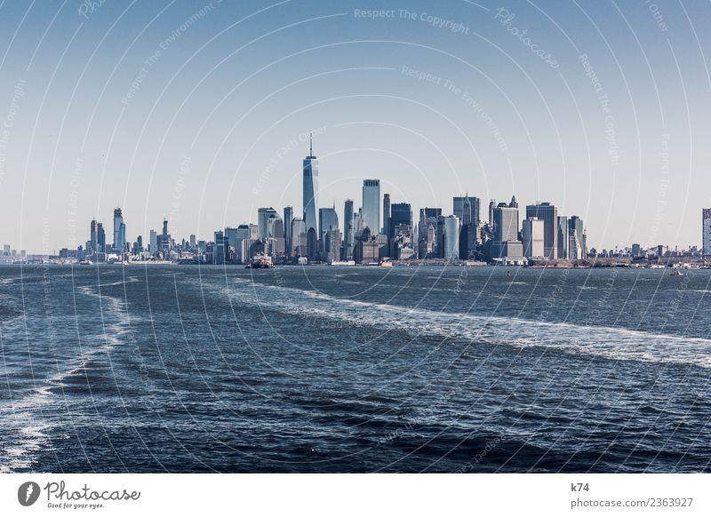 NYC - One World TC III Skyline Froschperspektive Tag Außenaufnahme Gedeckte Farben Farbfoto Stadt New York City USA Amerika Hauptstadt Stadtzentrum Menschenleer