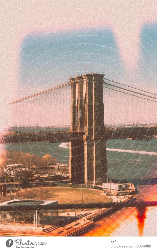 NYC - Brooklyn Bridge II Tag Außenaufnahme Farbfoto Stadt New York City USA Amerika Hauptstadt Stadtzentrum Menschenleer Gebäude Architektur Wahrzeichen
