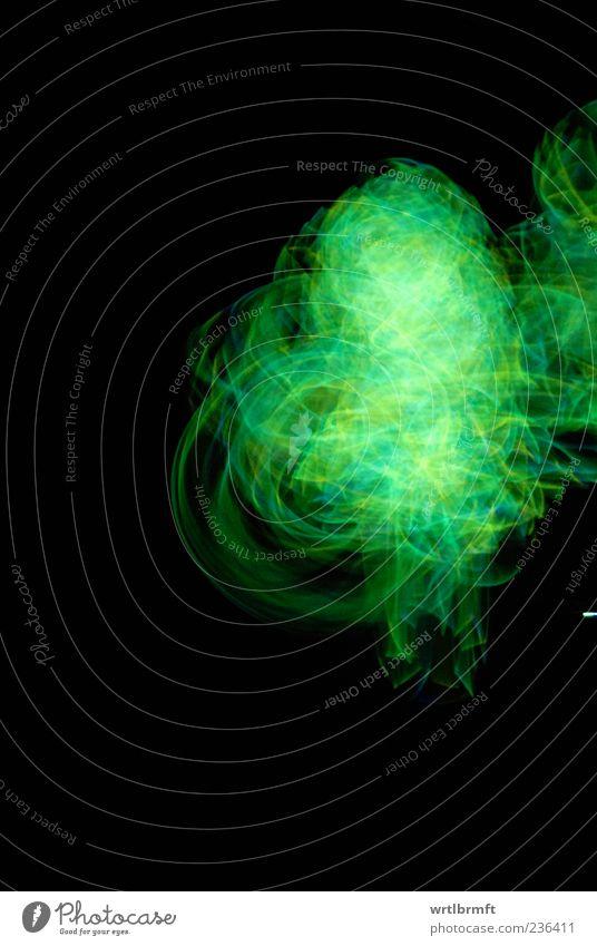 Grünes Chaos Technik & Technologie Show Bewegung drehen leuchten ästhetisch mehrfarbig gelb grün träumen bizarr Farbfoto Innenaufnahme Experiment abstrakt