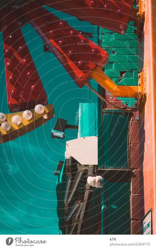 NYC - Luna Park Coney Island - * New York City Gebäude Mauer Wand grün rot chaotisch Inspiration Stadt Strukturen & Formen Leuchtreklame Markise Scheinwerfer