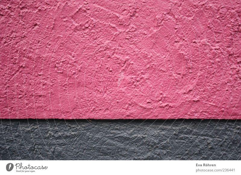Pink Grau Haus Bauwerk Gebäude Mauer Wand Fassade Stein Beton einfach frisch grau rosa Strukturen & Formen Maserung Farbfoto Hintergrund neutral Menschenleer