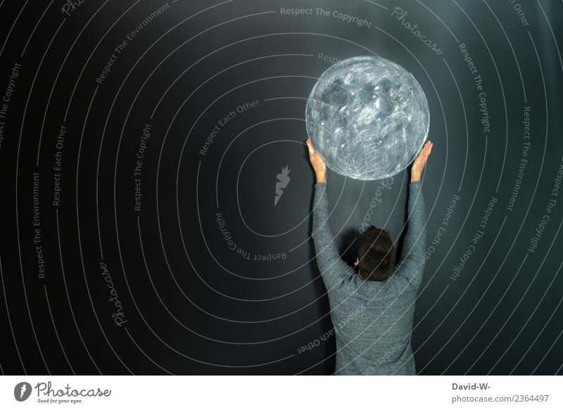 den Mond vom Himmel holen Kindergarten Schule Tafel Mensch maskulin Kunst Künstler Kunstwerk Theaterschauspiel Schauspieler glänzend hell ansammeln oben