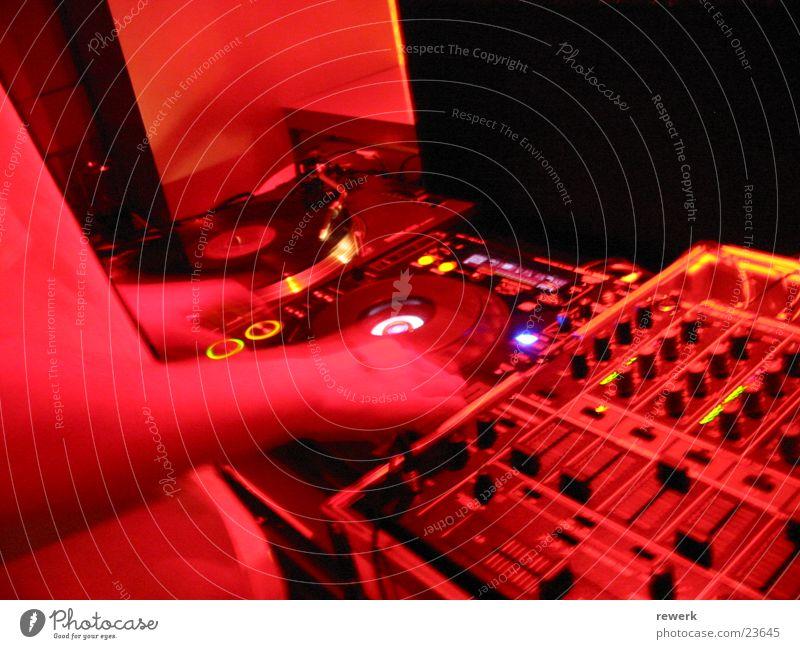 DJ@Work dunkel Party gehen Club Diskjockey Schallplatte Compact Disc Fototechnik stimmig