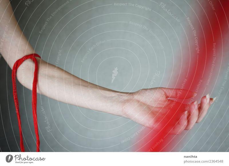 Konzeptionelles Bild über Blutspenden Design Gesundheit Gesundheitswesen Behandlung Krankenpflege Medikament Sinnesorgane Arme Kunst Linie ästhetisch