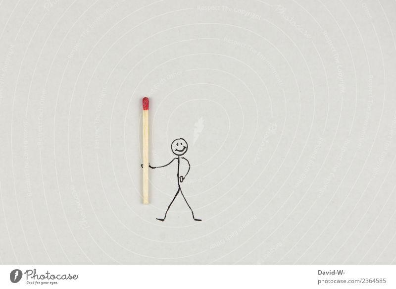 Strichmännchen mit Fackel Lifestyle elegant Stil Freizeit & Hobby Spielen Basteln Ferien & Urlaub & Reisen Ausflug Abenteuer Häusliches Leben Kindergarten