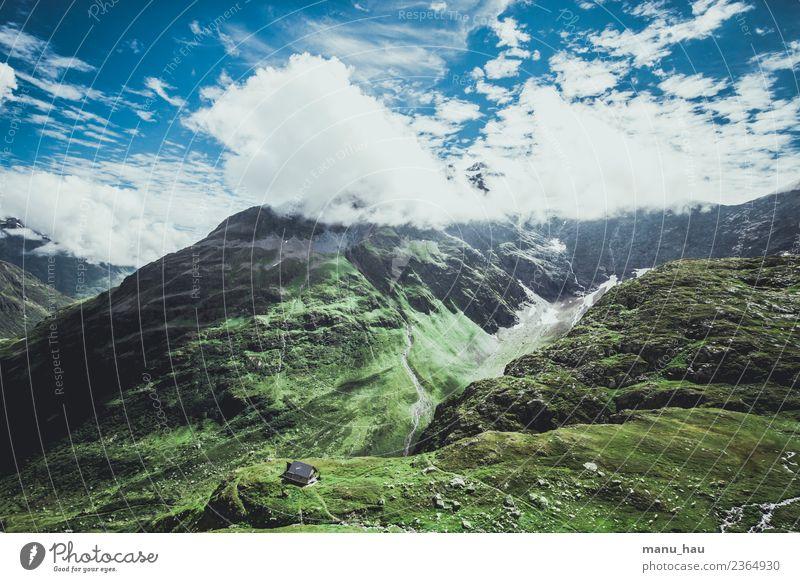 Häuschen Himmel Natur Ferien & Urlaub & Reisen Sommer Landschaft Sonne Wolken Ferne Berge u. Gebirge Umwelt Frühling Tourismus Freiheit Felsen Ausflug