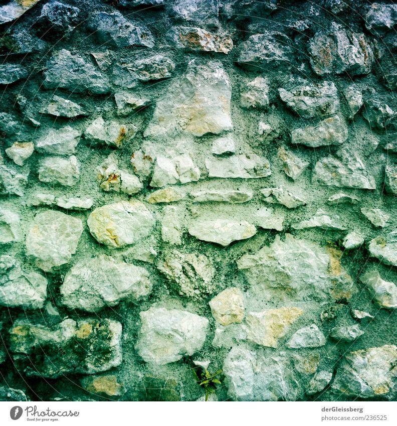 steinige Wege 1 alt grün grau Stein Bauwerk eckig Steinwand