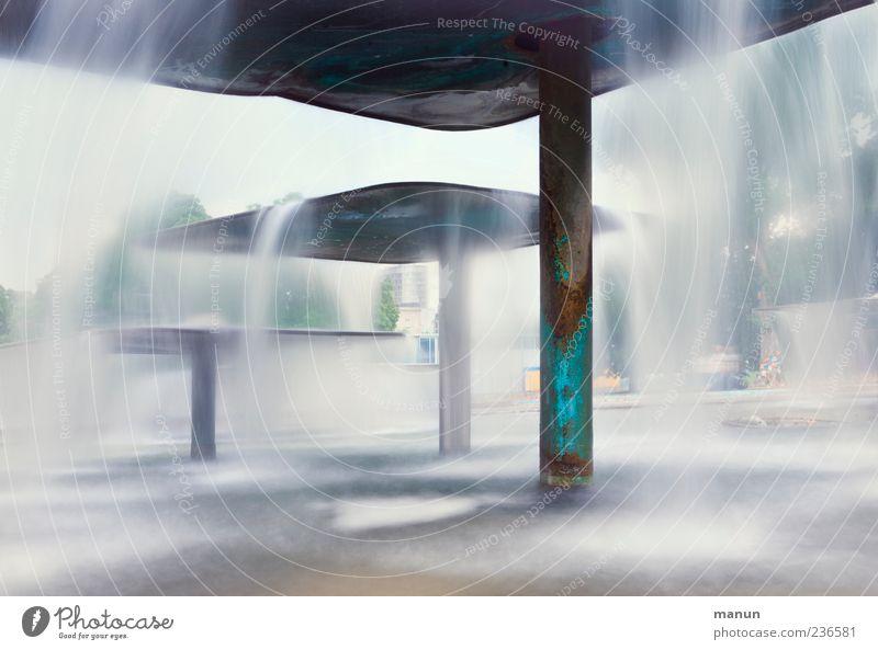 Wischwasser Wasser Park nass Brunnen Sehenswürdigkeit Wasserfall Stuttgart abstrakt Springbrunnen Schlosspark