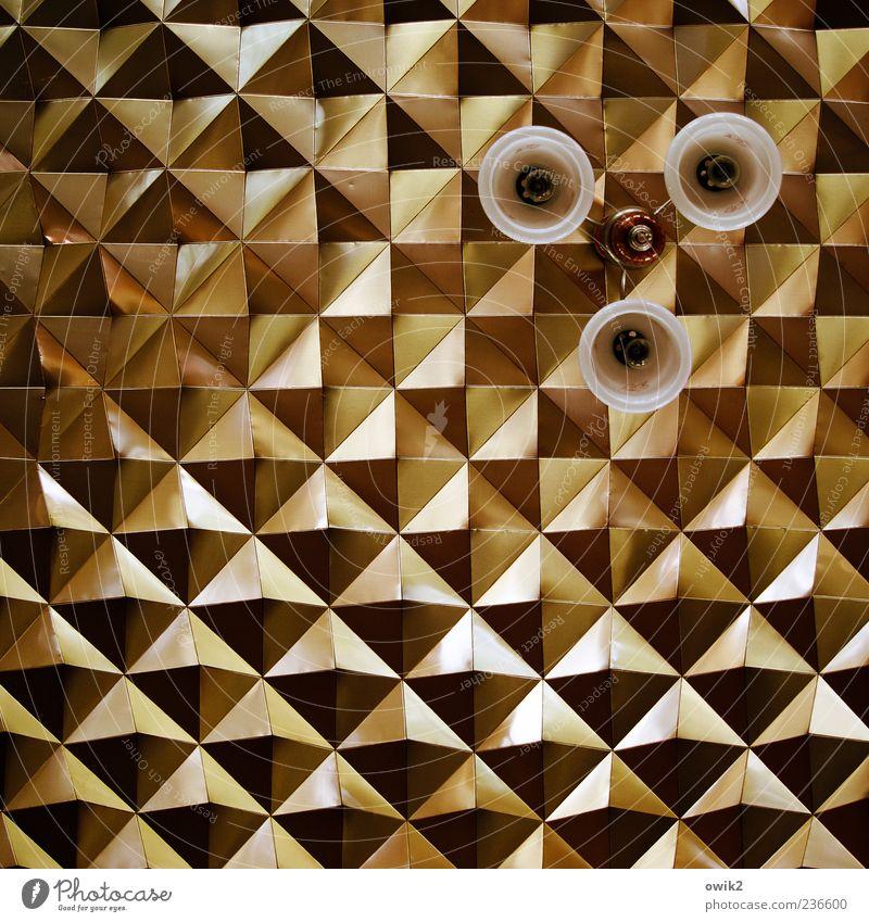 Das Runde muss ans Eckige weiß schwarz Wand Lampe braun gold elegant außergewöhnlich Design verrückt ästhetisch retro einfach Vergangenheit abstrakt Neigung
