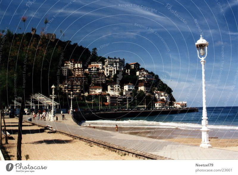 La Concha Meer Strand Europa Bucht Promenade Baskenland San Sebastián