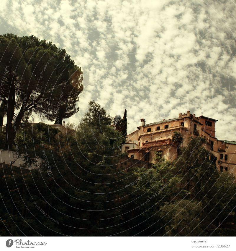 Im Süden Himmel Baum Ferien & Urlaub & Reisen Haus Architektur Ausflug Tourismus einzigartig Spanien Sightseeing südländisch