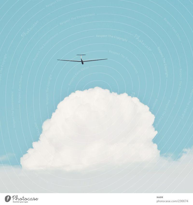 ... aber bitte mit Sahne Himmel blau weiß Wolken Umwelt Wärme Freiheit hell Wind fliegen Freizeit & Hobby Klima Luftverkehr Schönes Wetter Freundlichkeit leicht